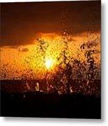 Sunset Splash 2 Metal Print