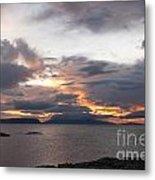 Sunset Storm Clouds Inner Hebrides Metal Print