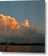 Sunset Storm Clouds Panorama Metal Print