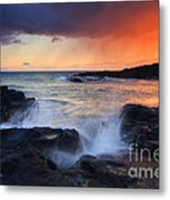 Sunset Storm Passing Metal Print