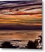 Sunset Swirl Metal Print