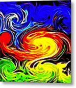 Sunset Swirl Metal Print by Stephen Younts