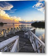 Sunset To Relax Metal Print