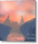 Sunset Valley  Metal Print