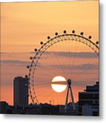 Sunset Viewed Through The London Eye Metal Print