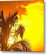 Sunset, Wailea, Maui, Hawaii, Usa Metal Print