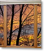 Sunset Window View Metal Print