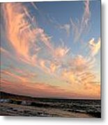 Sunset Wispy Sky Metal Print