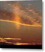 Sunset With Mist Metal Print