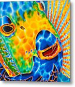 Sunshine Angelfish Metal Print by Daniel Jean-Baptiste
