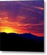 Sunshine Mountain Range Metal Print