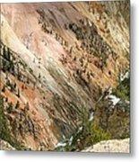 Sunshine On Grand Canyon In Yellowstone Metal Print