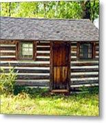 Sunshine On The Little Cabin Metal Print