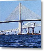 Sunshine Skyway Bridge II Metal Print