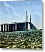 Sunshine Skyway Bridge - Tampa Bay Metal Print