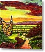 Sunshine Traveler-monarch Metal Print