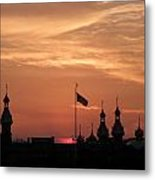 Sunst Over The University Of Tampa Metal Print