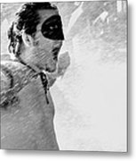 Superboy Of Peachtree Black And White Metal Print