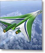 Supersonic Aircraft Design Metal Print