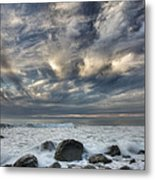 Surf At Gillespies Beach Near Fox Metal Print