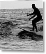 Surfer Going With The Flow Metal Print
