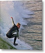 Surfin' The Wave Metal Print