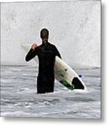 Surfing 397 Metal Print by Joyce StJames