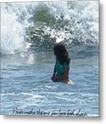 Surfing Eyes Metal Print by Laurence Oliver