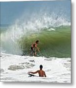 Surfing In The Wake Of Hurricane Irene Metal Print