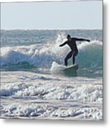 Surfing The Atlantic Metal Print by Brian Roscorla