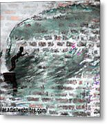 Surfing The Wall Metal Print