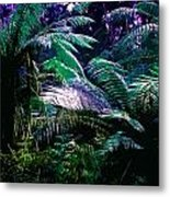 Surreal Tropical Forest Drawing Illustrated Scene Metal Print