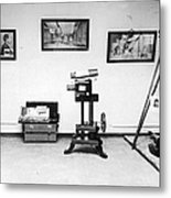 Surveillance Equipment, 19th Century Metal Print by Science Source
