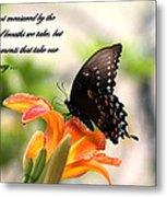 Swallowtail Card Metal Print