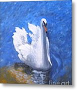 Swan Lake Metal Print by Julie Sauer