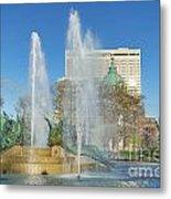 Swann Fountain At Logan's Circle Metal Print