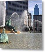 Swann Memorial Fountain In Philadelphia Metal Print