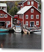 Swedish Fishing Village Metal Print