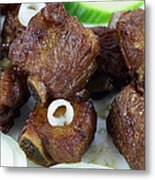 Sweet And Sour Ribs Chinese Food  Metal Print by Paul Ge