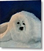 Sweet Little Winter Seal Pup Of My Soul Metal Print