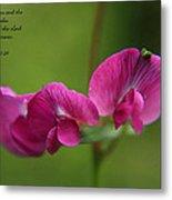 Sweet Pea Flower Metal Print
