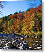 Swift River In Autumn Metal Print