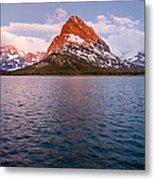 Swiftcurrent Lake At Dawn Metal Print