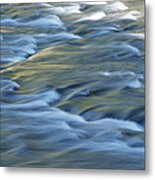 Swiftly Rushing Water In A Stream Metal Print