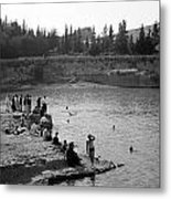 Swiming Time 1945 Metal Print