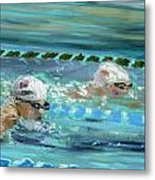 Swimmers Metal Print by Paul Mitchell