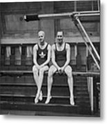 Swimming Courtship Metal Print by A Hudson