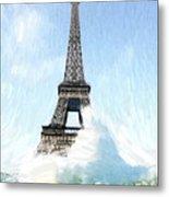 Swimming Pleasure In Paris Metal Print by Steve K