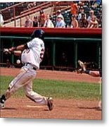 Swing And A Miss Metal Print