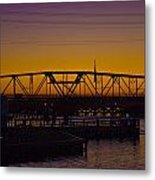Swing Bridge Sunset Metal Print